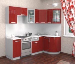 Красная белая кухня ЛНР
