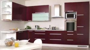 Заказать кухню в Луганске красного цвета