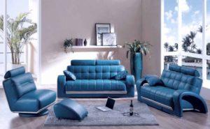 Голубая мягкая мебель