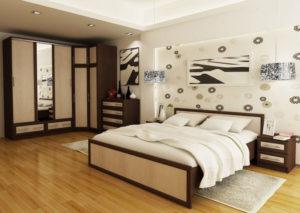 Просторная спальня светлая