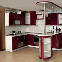 Красно-белая кухня под заказ Луганск