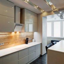 Красивая мебель для кухни с вытяжкой