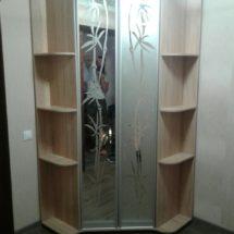 Стеклянные шкаф купе с дверьми