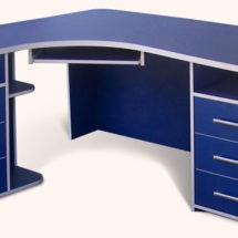 Синий стол для офиса