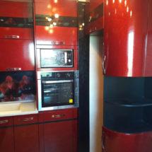Мебель для кухни в красном цвете
