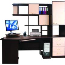 Черно-розовая мебель для офиса