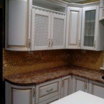 Кухня коричневая с белым Луганск