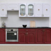 Белый верх, красный низ кухня