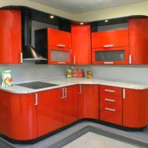 Оранжевый кухонный уголок