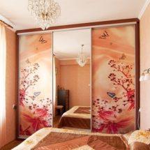 Розовый шкаф купе ЛНР