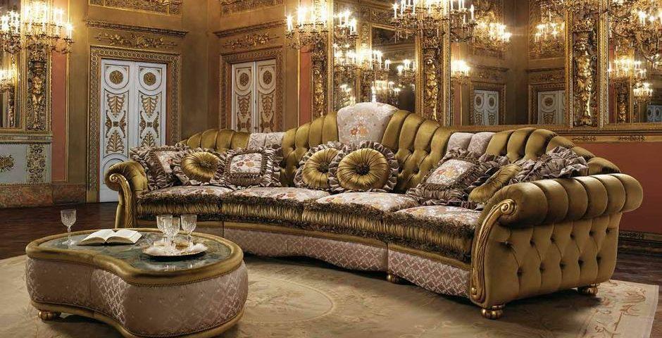Темная элитная мебель, диван