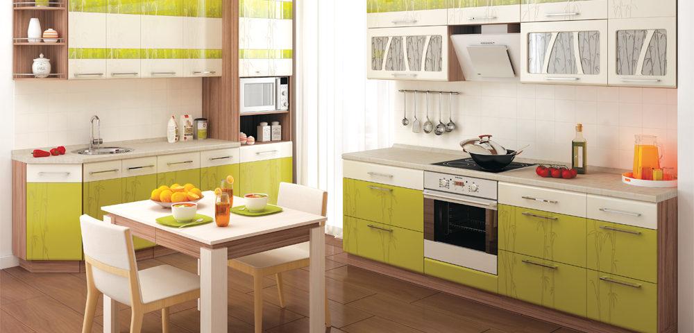 Кухня зеленая МДФ комплект